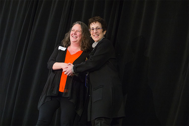 Photograph from the 2015 Distinguished Staff Award Reception