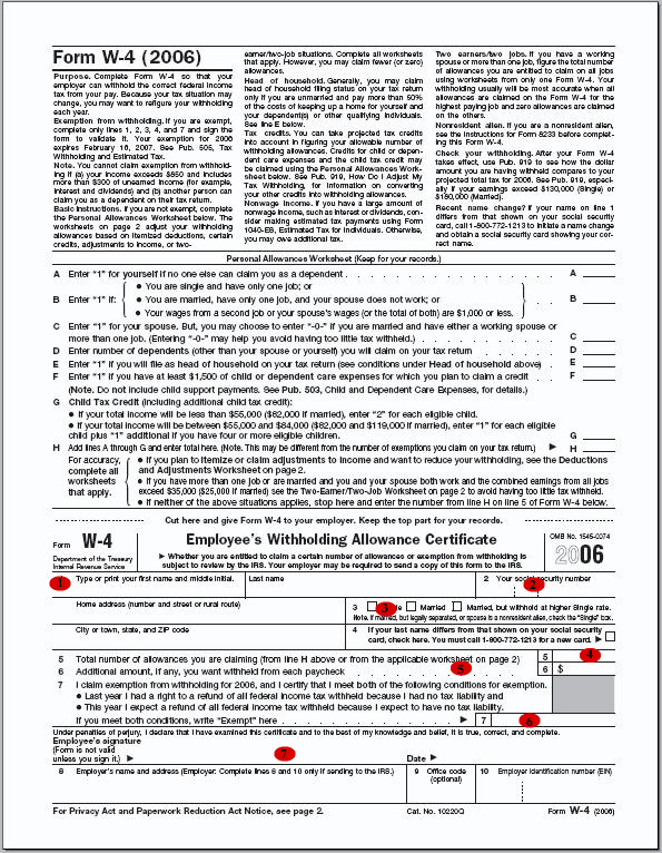 Form W-4 (printable .pdf file)