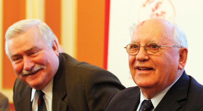 Gorbachev and Walesa