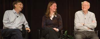 Bill, Melinda, and William Gates