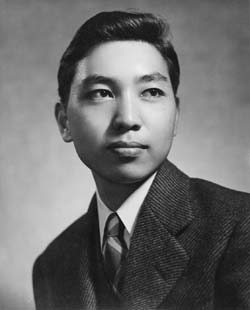 Frank Miyamoto�s UW graduation portrait. Photo courtesy of Frank Miyamoto.
