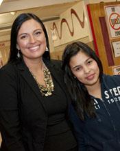 Deborah Parker and Student