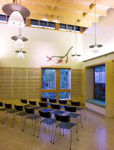Inside the library's new meeting room
