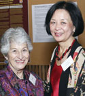 Mrs. Roz Wolfe and Provost Phyllis Wise