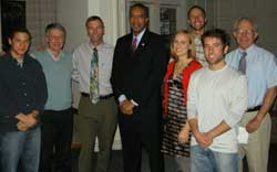 SFR students and faculty with Peace Corps Director Aaron Williams