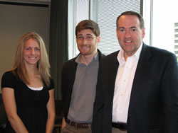 Seattle Politicore students interview Huckabee