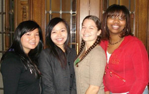 Muang Thin Saetern, left, Vicky Chen, Shannon Black and Treneicia Michelle Gardner
