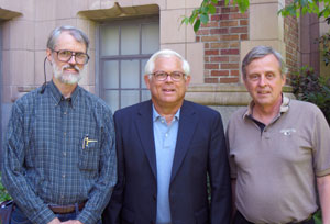 Michael Knapp, left, Robert Abbott and William Zumeta