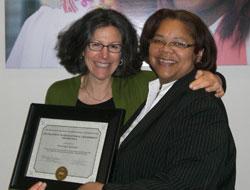 Margery Ginsberg, left, & Princess Shareef
