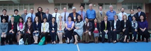 Elizabeth West, eighth from right in the front row, with her International Initiative for Inclusive Education colleagues.