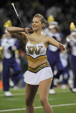 Catherine Watters performs at last year's Apple Cup.