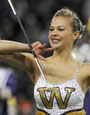 HMB feature twirler Catherine Watters (Photo by Dennis Hubbard)