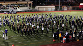 Husky Band at Sumner High School homecoming.