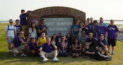 Husky Marching Band at Fort Sumter, S.C.