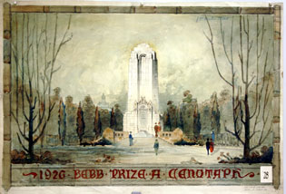 Paul Thiry's Cenotaphe, (Bebb Prize Competition), 1926