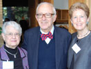 Nancy Cleveland, left, past Friends Board Presidents Dan Blom and Judy Maleng. (Photo by Gregory Pearce)