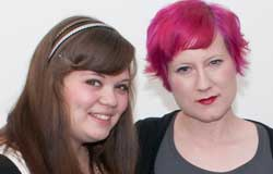 Ashley Siverly, left, and Amy Halligan