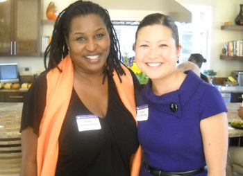 Natalie Lumpkin-Brown, left, and Colleen Fukui-Sketchley