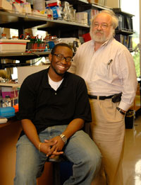 Intern Dennis McLeod, left, with STAR mentor Dr. Steve Schwartz