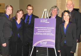 The award-winning team (photo courtesy UW School of Pharmacy)