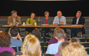 Panel discussion at orientation