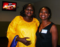 Agnes Oswaha, left, and Juanita Ricks, SSW admissions director