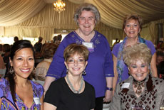 From left: Stephanie Sarkisian, DeLaine Emmert, Kay Larson, Kay DeMars and Jackie Lee Houston at this year's Coffee + Conversation luncheon in Palm Desert.