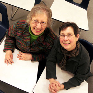 Janice Laakso, left, and Claudia Gorbman