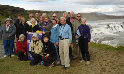 Exploring Iceland travelers