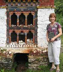 Pauline in Bhutan