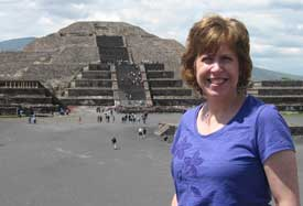 Pauline at the Pyramids