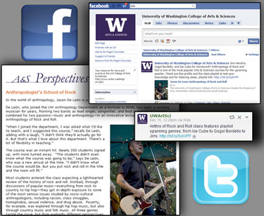 Photo collage of Perspectives promotions