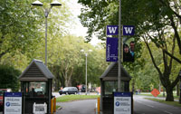 Photo of a UW street banner