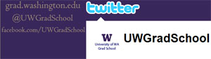 Screen shot of UW Graduate School Twitter page