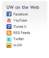 Screen shot of UW social network links