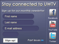 Screen shot of UWTV home page graphic