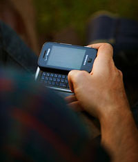 Photo of text-messaging