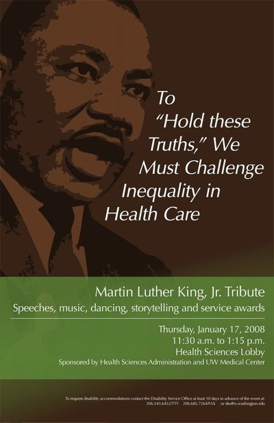 Health Sciences And Uwmc Celebrate Martin Luther King Jr Uw News