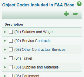 f and a custom object codes