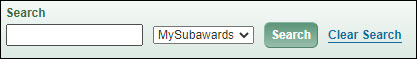 my subawards search box