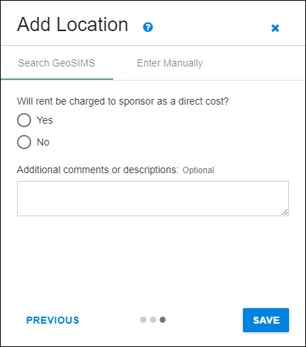 add location rent and comments