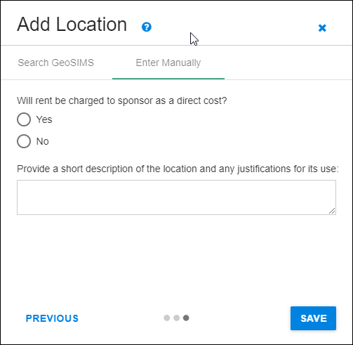 add new location rent comments