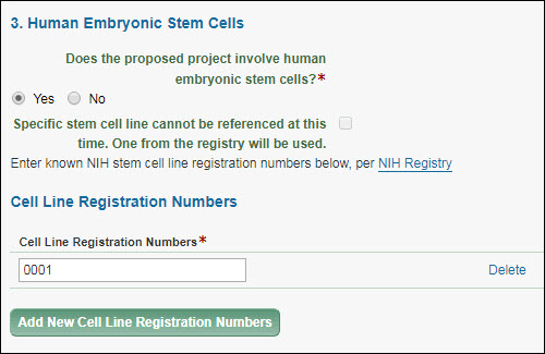 Human Embryonic Stem Cells section