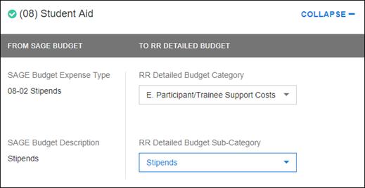 sponsor budget map section 08