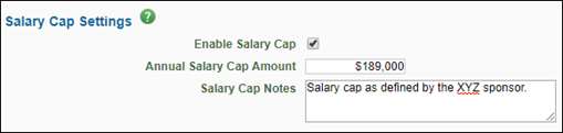 target and caps tab salary cap fields