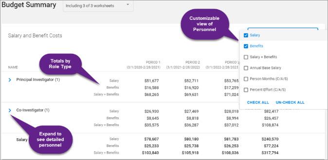 summary salary
