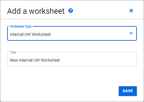 add a worksheet dialog