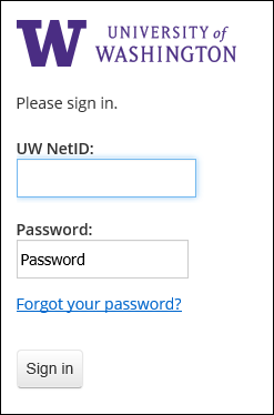 u w Net I D login page