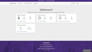 MyResearch Summary Dashboard