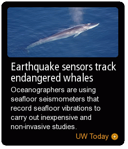Earthquake sensors track endangered whales